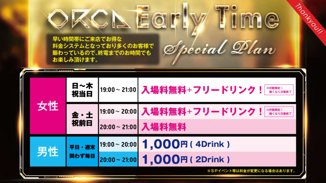 ORCA Early Time Special Plan